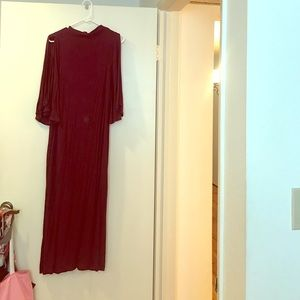 Free People Maroon Jersey Dress